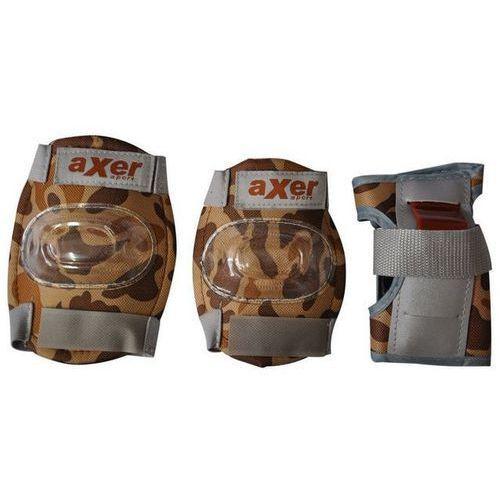 Zestaw ochraniaczy a0536 moro brązowy (rozmiar l) + zamów z dostawą jutro! marki Axer sport