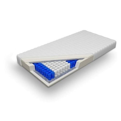 Materac kieszeniowy pocket średniotwardy H2 (16 cm) - Posejdon 100 x 200 Cashmere