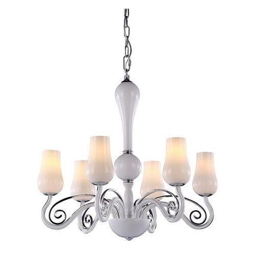 Italux Lampa wisząca lybra md10904-6a zwis żyrandol 6x40w e14 biała (5900644344636)
