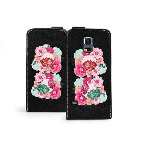 Samsung Galaxy S5 Mini - etui na telefon Flip Fantastic- róże