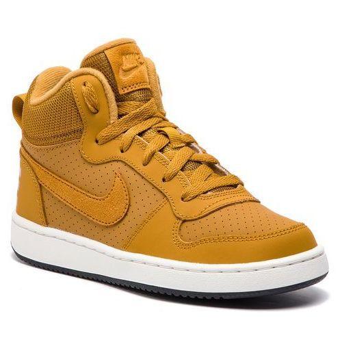 Nike Buty - court borough mid (gs) 839977 701 wheat/wheat/summit white/black