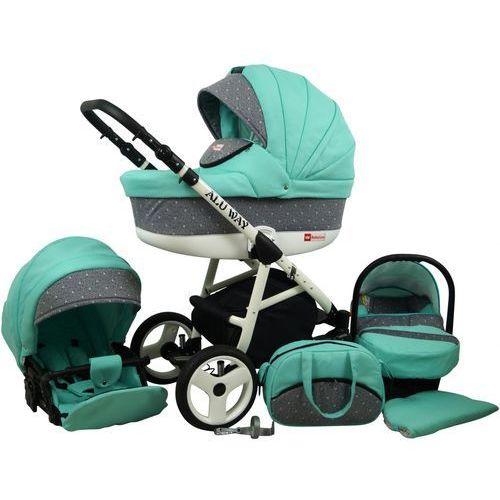 Sun Baby Wózek wielofunkcyjny Alu way 3w1, mint