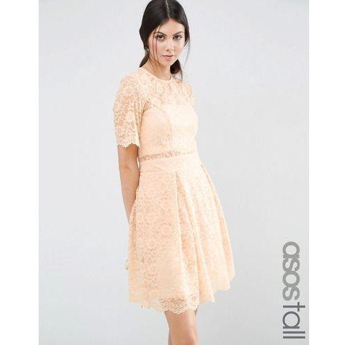 lace mini prom dress - pink, Asos tall