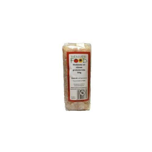 Denver food Sól kłodawska różowa gruboziarnista bezglutenowa 700 g