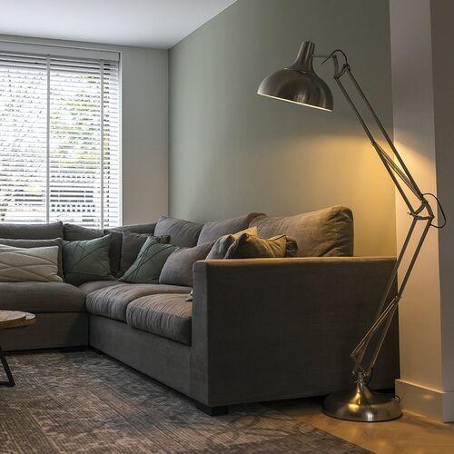 Qazqa Designerska lampa podłogowa stalowa - hobby