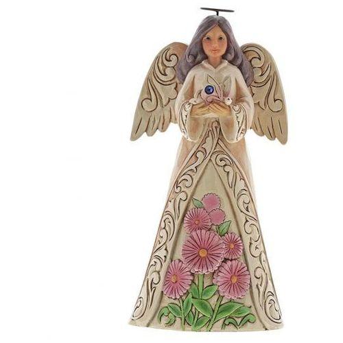 Anioł Wrzesień Monthly Angel Figurine September Angel 6001570 Jim Shore, pamiątka narodzin, chrztu figurka dewocjonalia