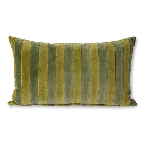 poduszka velvet w paski zielony/camo (30x50) tku2115 marki Hkliving
