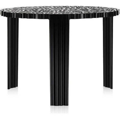 Kartell Stolik t-table 36 cm czarny nieprzezroczysty (8034105780613)