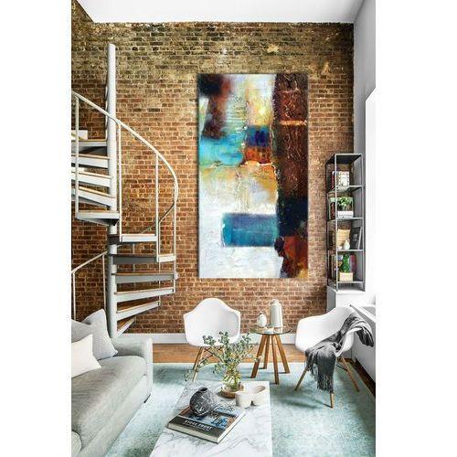 barwna mozaika - abstrakcyjny obraz na ścianę 80x170cm | obrazy do salonu