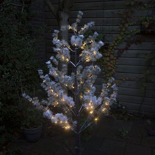 Lucide Drzewko bozonarodzeniowe sosna snow led barwa cieplo biala 1,5 m