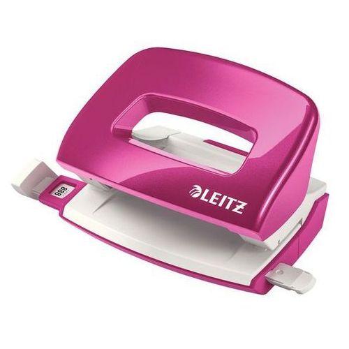 dziurkacz mini wow metalowy do 10 kartek, różowy metalik marki Leitz
