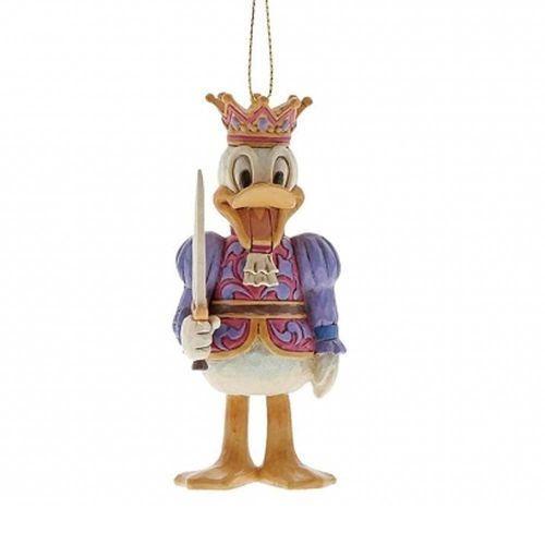 Jim shore Kolekcjonerski dziadek do orzechów kaczor donald zawieszka reigning royal a29383 (donald duck figurine) figurka ozdoba świąteczna