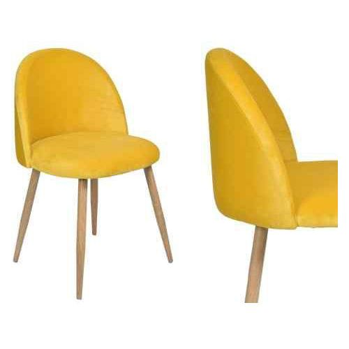 Gockowiak Krzesło tapicerowane jazz - żółte
