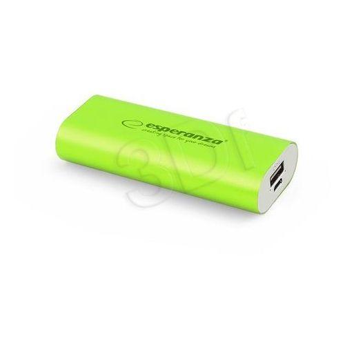 Esperanza  power bank hadron 4400mah zielony (5901299910559)