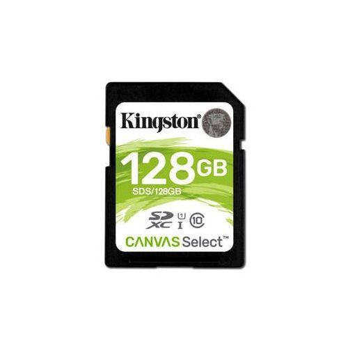 Karta pamięci Kingston Canvas Select SDXC 128GB UHS-I U1 (80R/10W) (SDS/128GB)
