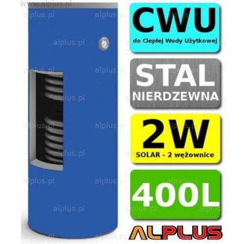 400l 2-wężownice nierdzewka solar, 2w zbiornik zasobnik wymiennik bojler, nierdzewna stal, wysyłka gratis marki Chełchowski