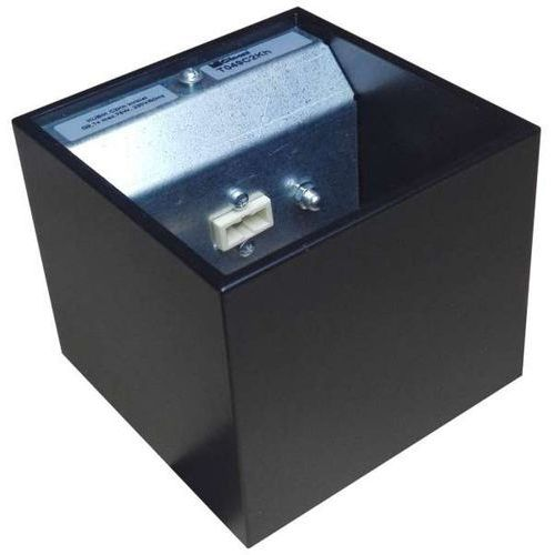 Cleoni Kinkiet lampa ścienna kubik t049c2kh193 metalowa oprawa minimalistyczna kwadratowa czarna matowa