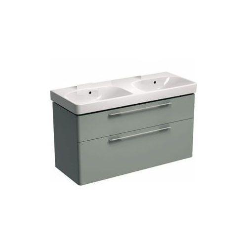 KOŁO szafka + umywalka podwójna bez otworów na baterie Traffic 120 platynowy połysk 89442-000+L91021000, 89442-000.L91021000