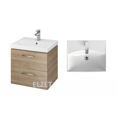 CERSANIT LARA SET 822 zestaw: umywalka 50 City+ szafka, kolor Orzech S801-155-DSM, kolor orzech