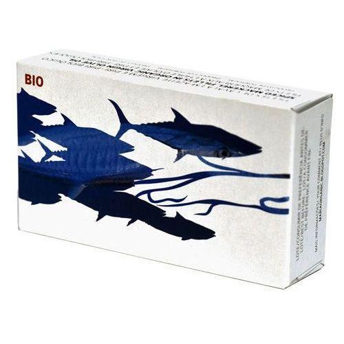 Portugalskie filety z makreli pikantne w oliwie BIO 125g Maria Organic