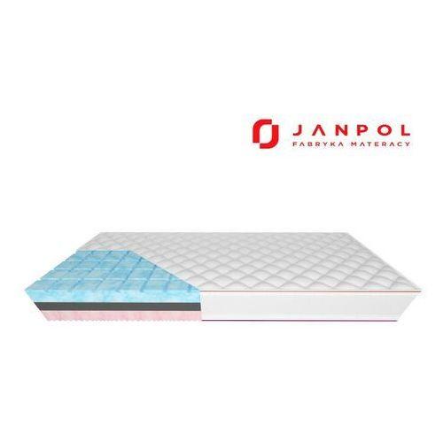 Janpol moon – materac piankowy, rozmiar - 200x190, pokrowiec - silver protect wyprzedaż, wysyłka gratis