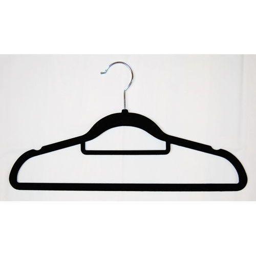 Wieszak odzieżowy - welurowy, czarny, 00837