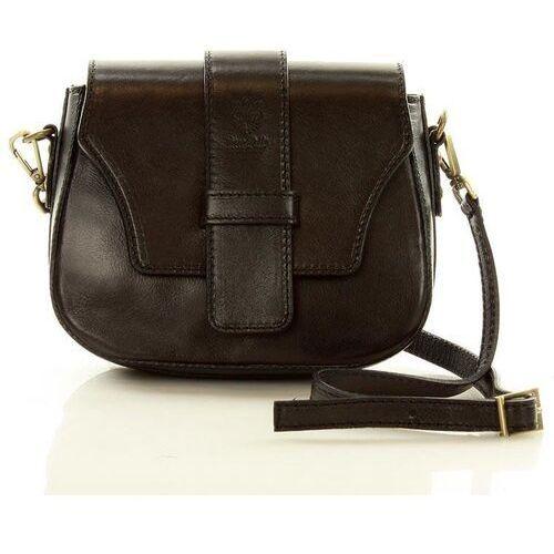 Czarna skórzana torebka crossbody bag