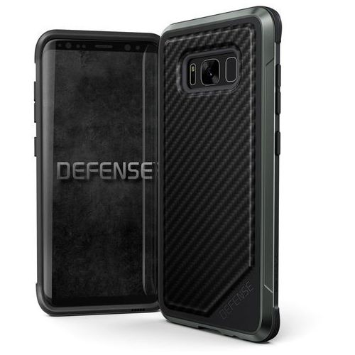 X-Doria Defense Lux - Etui aluminiowe Samsung Galaxy S8 (Black Carbon Fiber), kolor czarny