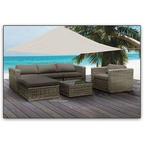 Żagiel ogrodowy zadaszenie przeciwsłoneczne biały 3,6x3,6m dobrebaseny marki Pure garden & living