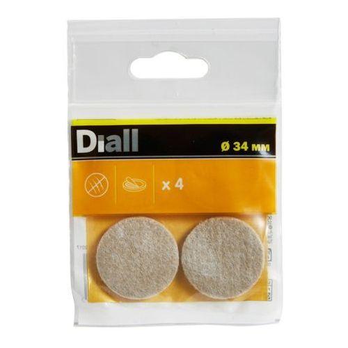 Podkładki samoprzylepne filcowe 34 mm beżowe 4 szt. marki Diall