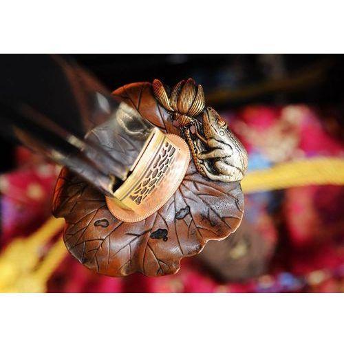 Kuźnia mieczy samurajskich Miecz samurajski katana do treningu, stal wysokowęglowa 1095, piękna saya r343
