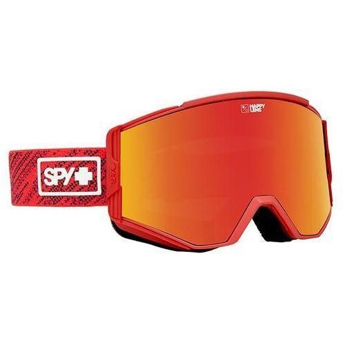 Gogle narciarskie ace spy knit red - happy gray green w/ red spectra + happy yello marki Spy