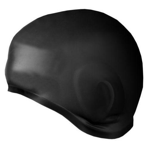 Czepek earcap silikonowy z uchem 837422 czarny marki Spokey