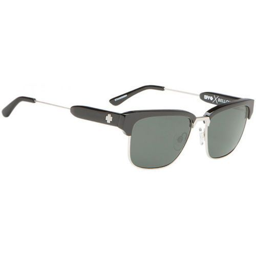 Okulary słoneczne bellows polarized black/silver - happy gray green polar marki Spy