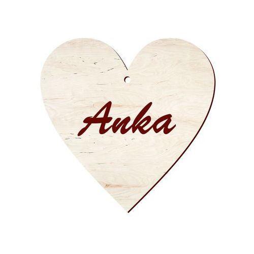 Congee.pl Zawieszka drewniana serce z imieniem na walentynki - 10 cm - 1 szt. (5907509900631)