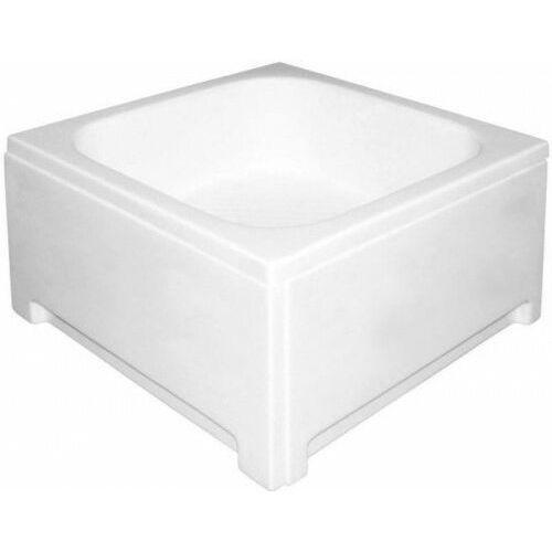 POLIMAT Brodzik kwadratowy 80x80x26x42cm, akrylowy 00303, 00303