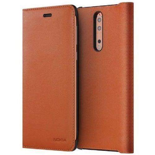 Etui NOKIA Leather Flip Cover CP-801 do Nokia 8 Ciemny brąz (6438409009487)