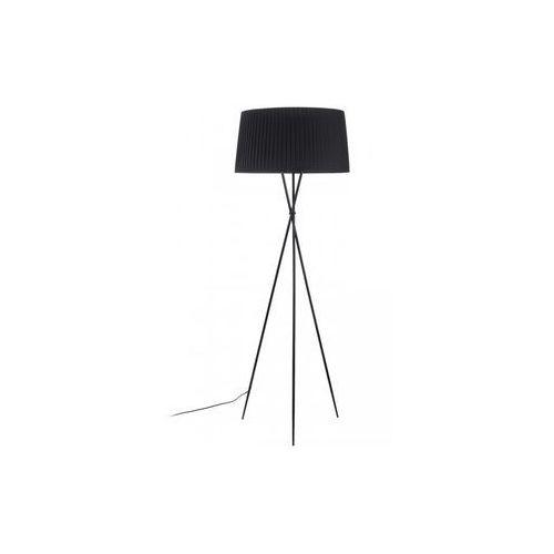 King home Lampa podłogowa frill black czarna - stal węglowa (5900168817524)