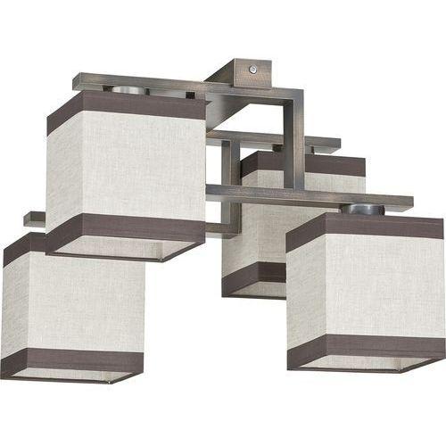 Tklighting Plafon lampa wisząca oprawa tk lighting lea gray 4x60w e27 brąz/beż 409 (5901780504090)