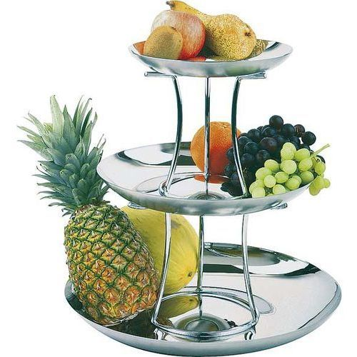 Patera do owoców trzypoziomowa | składana o średnicy 420mm