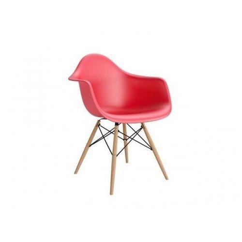 Krzesło P018W PP inspirowane DAW - czerwony, kolor czerwony
