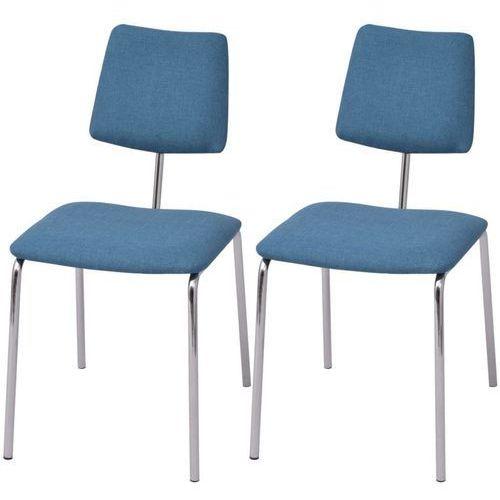 Krzesła jadalniane materiałowe, 2 szt. niebieskie