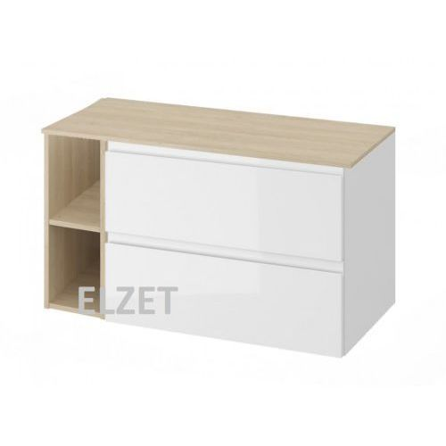 Cersanit szafka moduo biały połysk pod umywalkę nablatową + moduł otwarty + blat 100 s929-008+k116-020+s590-024
