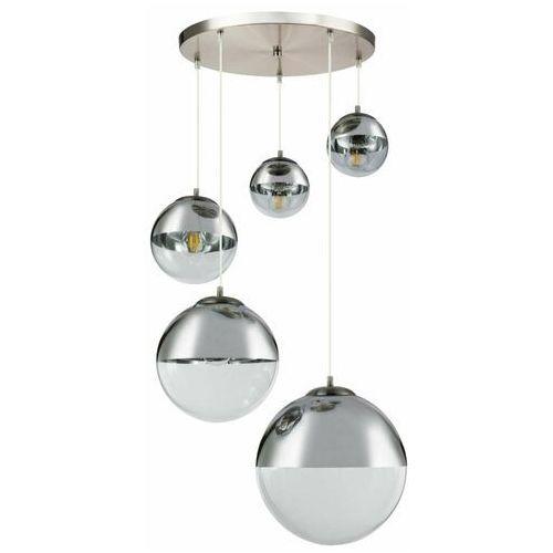 Lampa wisząca varus 15851-5 lampa sufitowa zwis 3x40w + 2x25w e27 nikiel mat / chrom marki Globo