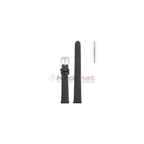 Pasek TK033/14XL - czarny, imitacja skóry jaszczurki, long.