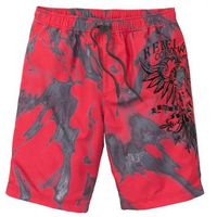 Bermudy plażowe regular fit czerwony z nadrukiem marki Bonprix