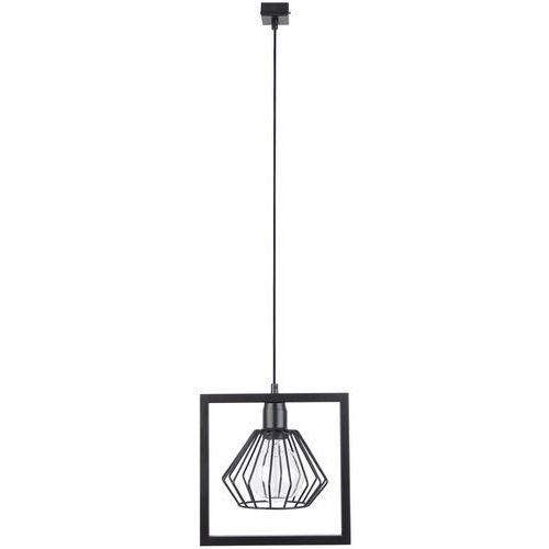 LAMPA wisząca SAGA 31614 Sigma metalowa OPRAWA ramka ZWIS klatka loftowa drut czarny, 31614