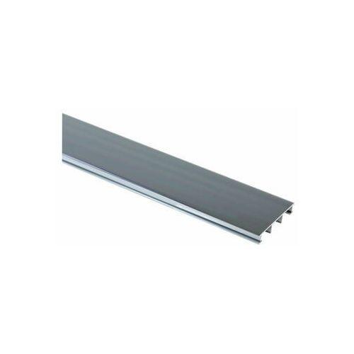 Profil wykończeniowy ozdobny Aluminium 25 mm / 2.5 m Srebrny tytan Cezar (5904584806742)