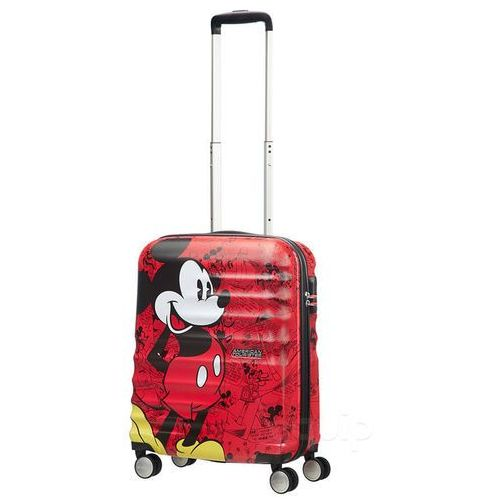 American tourister Walizka kabinowa wavebreaker disney - mickey comics red