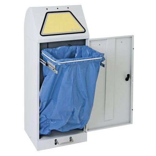 Systemowy pojemnik na surowce wtórne, klapa wrzutowa, uruchamianie nożne, z wysu